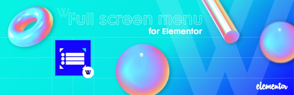Full Screen Menu for Elementor