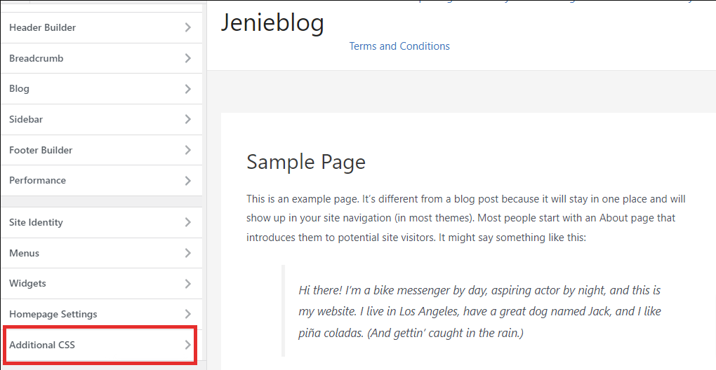 How to change font size in WordPress?