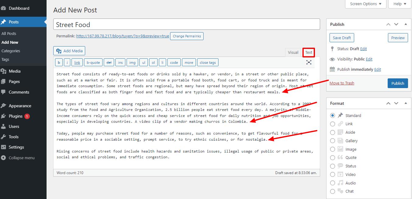 create a line break in WordPress with enter key 2