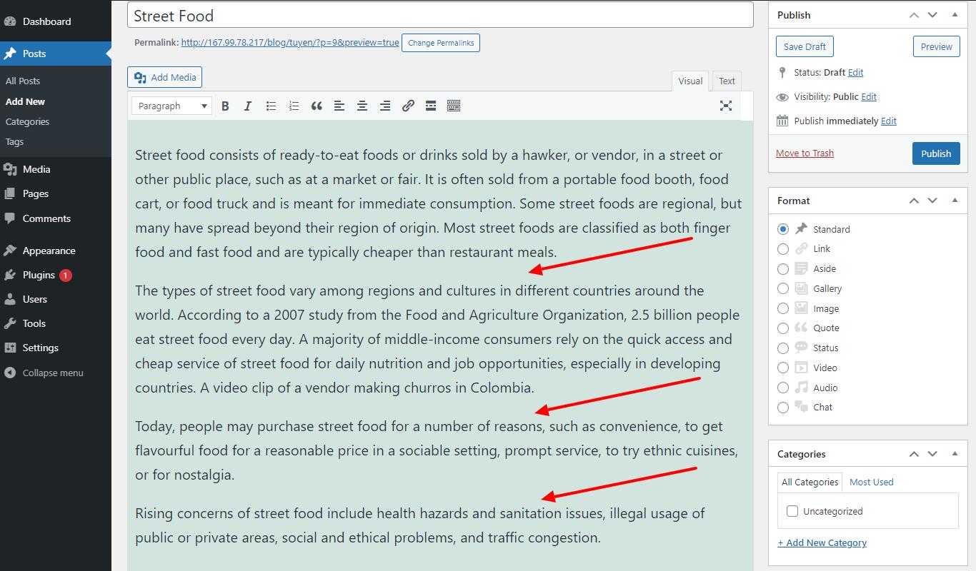 create a line break in WordPress with enter key 3