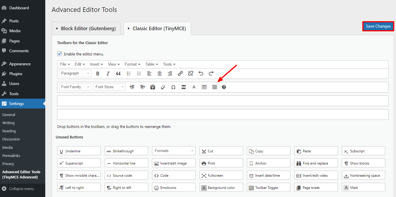 using a plugin to justify text in wordpress 3