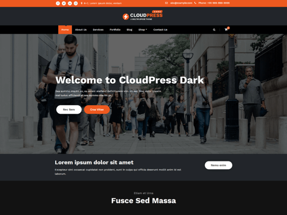 CloudPress Dark
