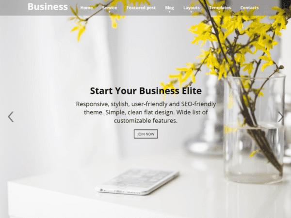 Free Business Elite Wordpress Theme