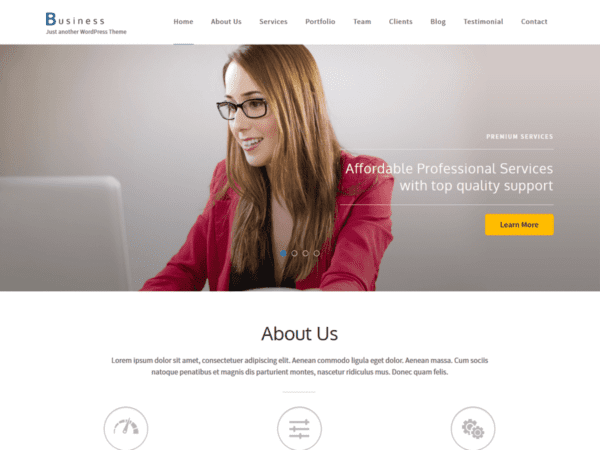 Free Business One Page Wordpress Theme