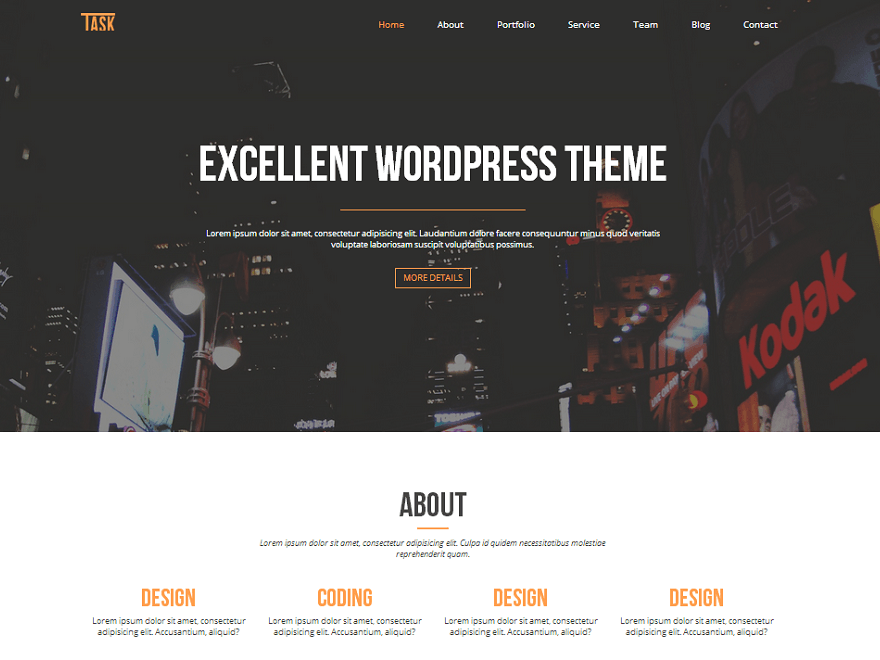Free Business One WordPress theme