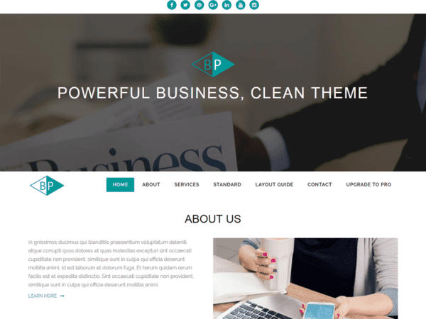 Free Business Park Wordpress theme