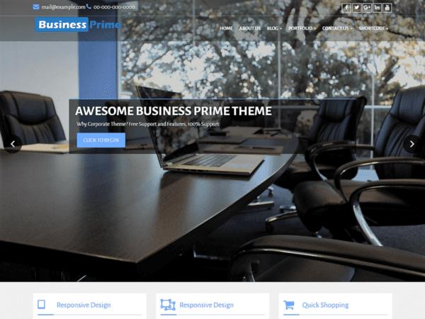 Free Business Prime Wordpress theme