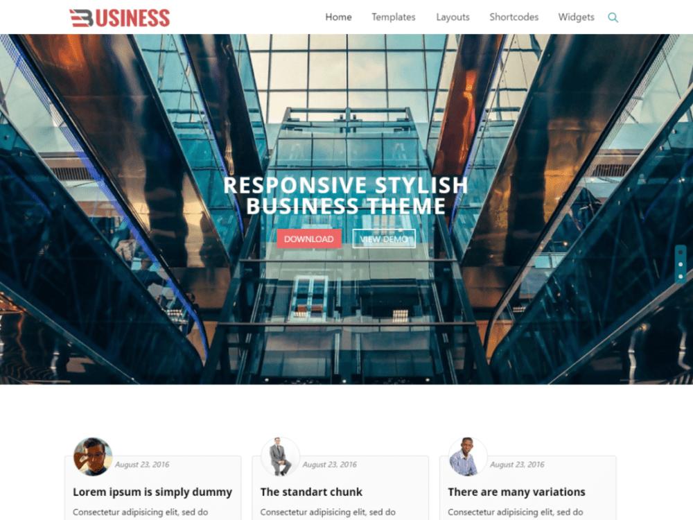 Free Business World WordPress theme