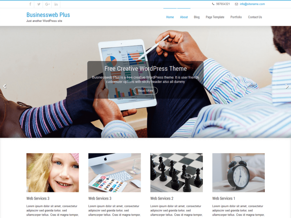 Free Businessweb Plus Wordpress Theme