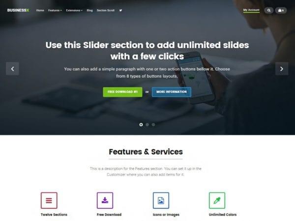 Free Businessx Wordpress Theme
