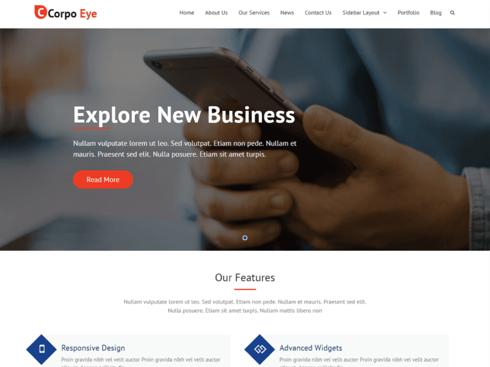 Free Corpo Eye WordPress theme
