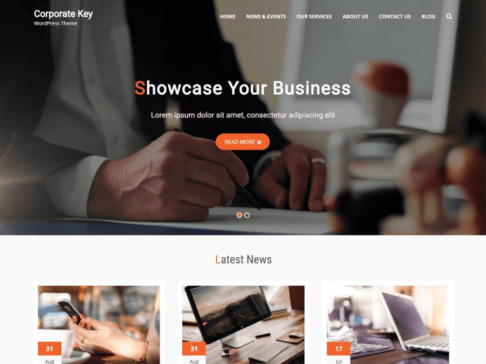 Free Corporate Key WordPress theme