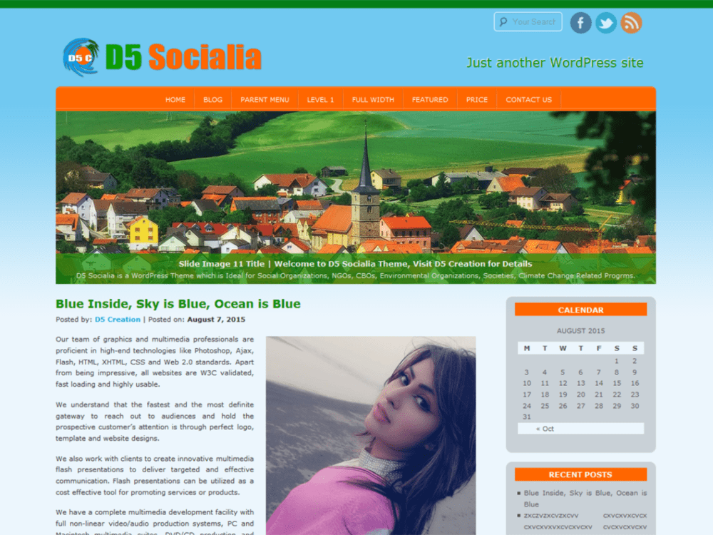 Free D5 Socialia WordPress Theme
