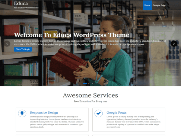 Free Educa Wordpress theme