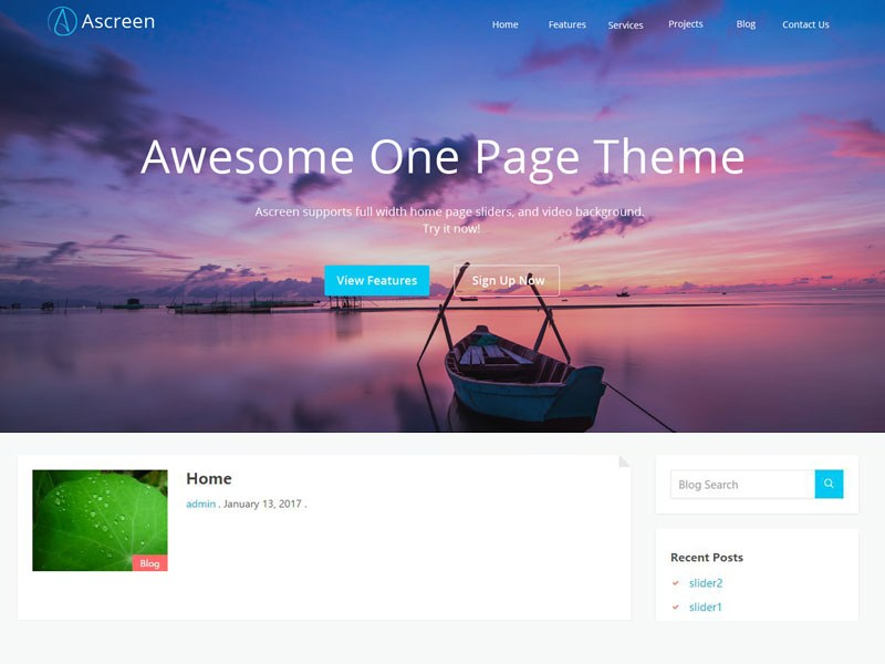 Free Ascreen Wordpress theme