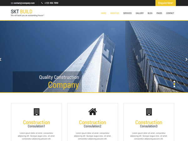 Free Build Lite Wordpress theme
