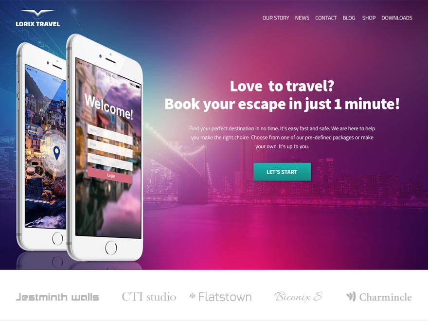 Free Clarina WordPress theme