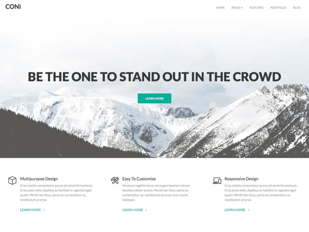 Free Coni Wordpress theme