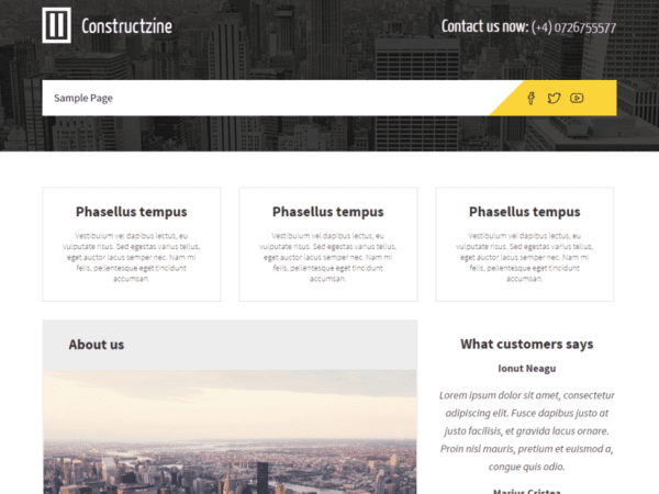Free Constructzine Lite Wordpress theme