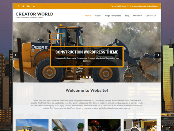 Free Creator World Wordpress theme