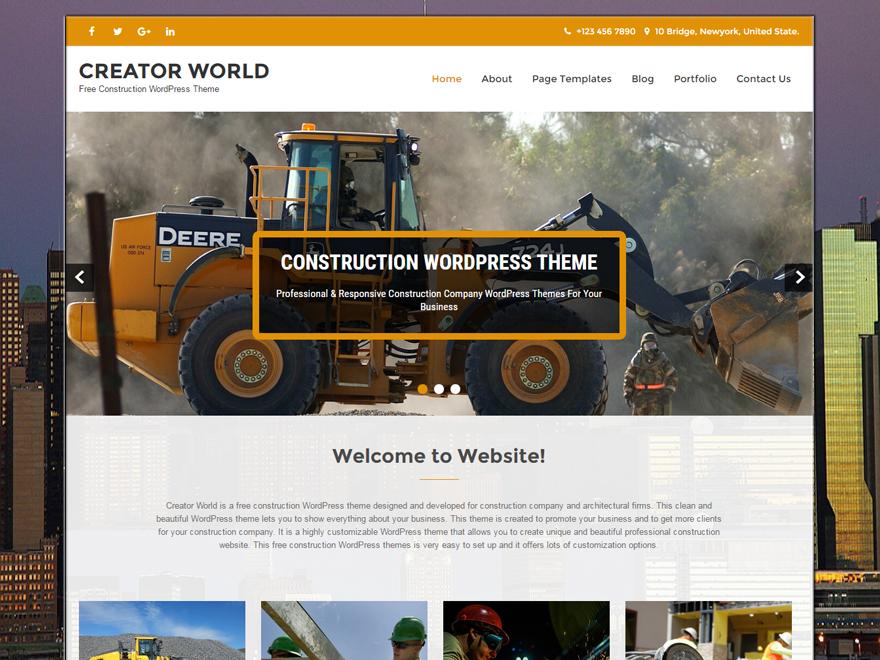 Free Creator World Wordpress theme
