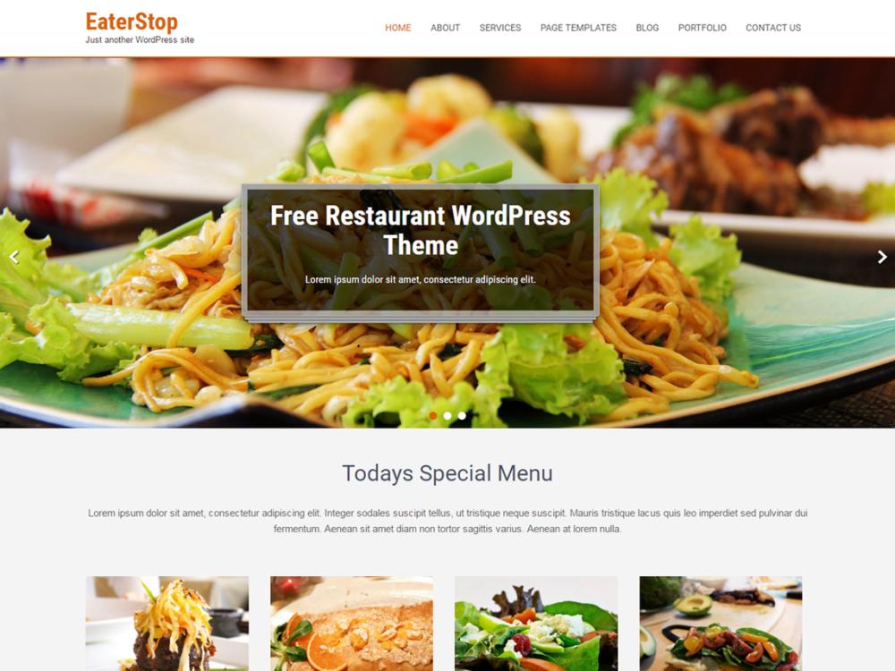 Free Eaterstop Lite Wordpress theme