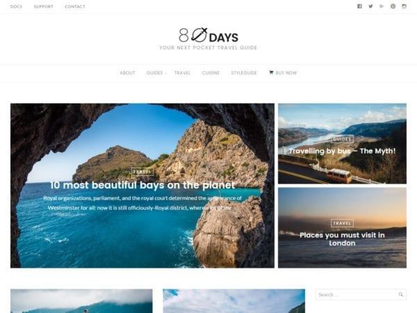 Free EightyDays Lite Wordpress theme