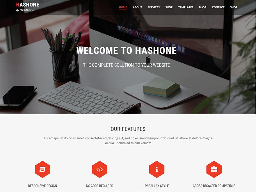Free HashOne Wordpress theme