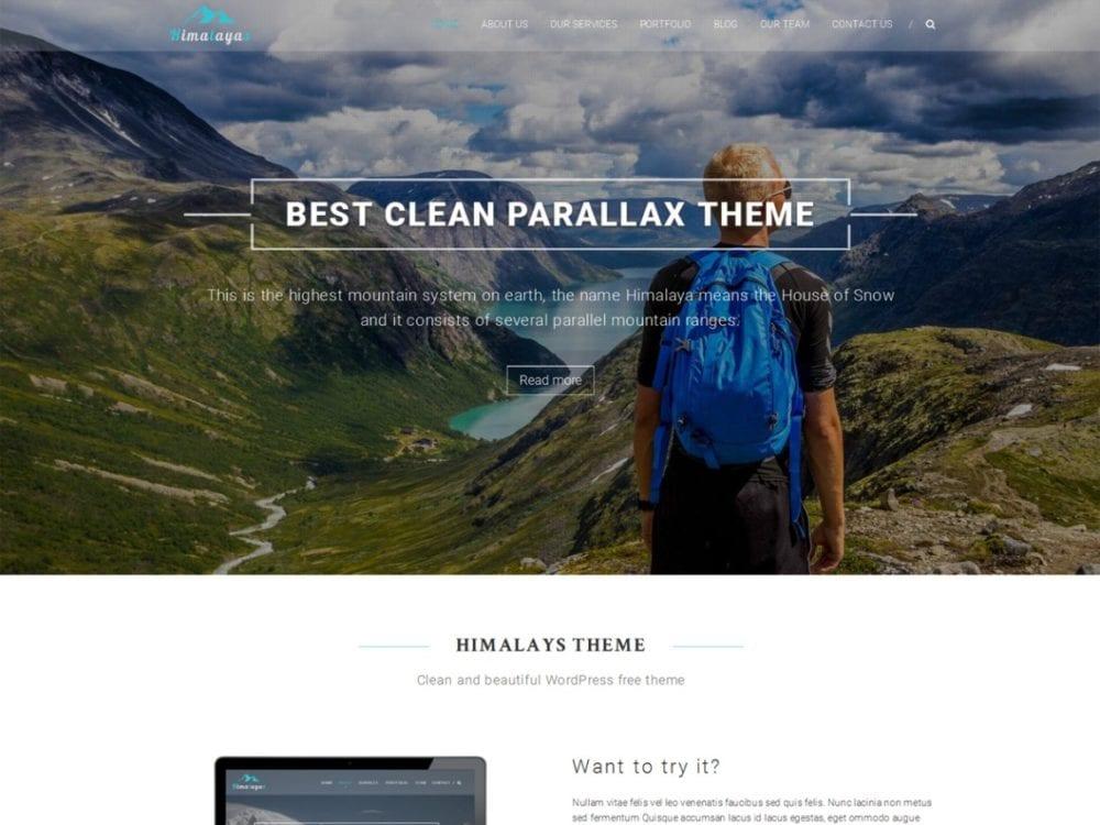 Free Himalayas Wordpress theme