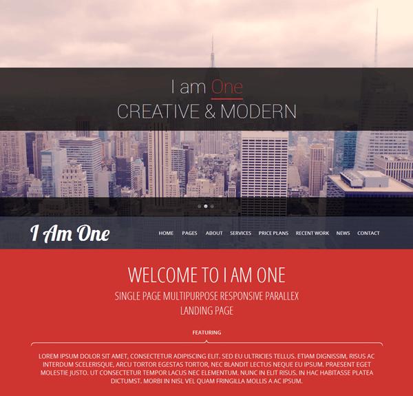 Free I Am One Wordpress theme