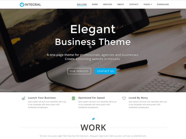 Free Integral Wordpress theme