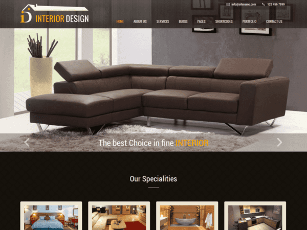 Free Interior Lite Wordpress theme