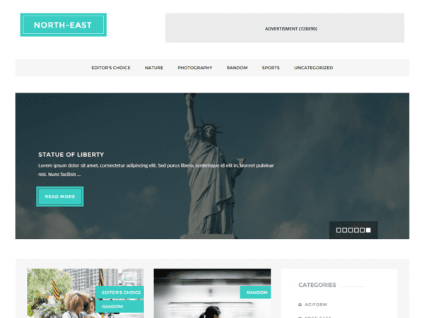 Free North East Wordpress theme