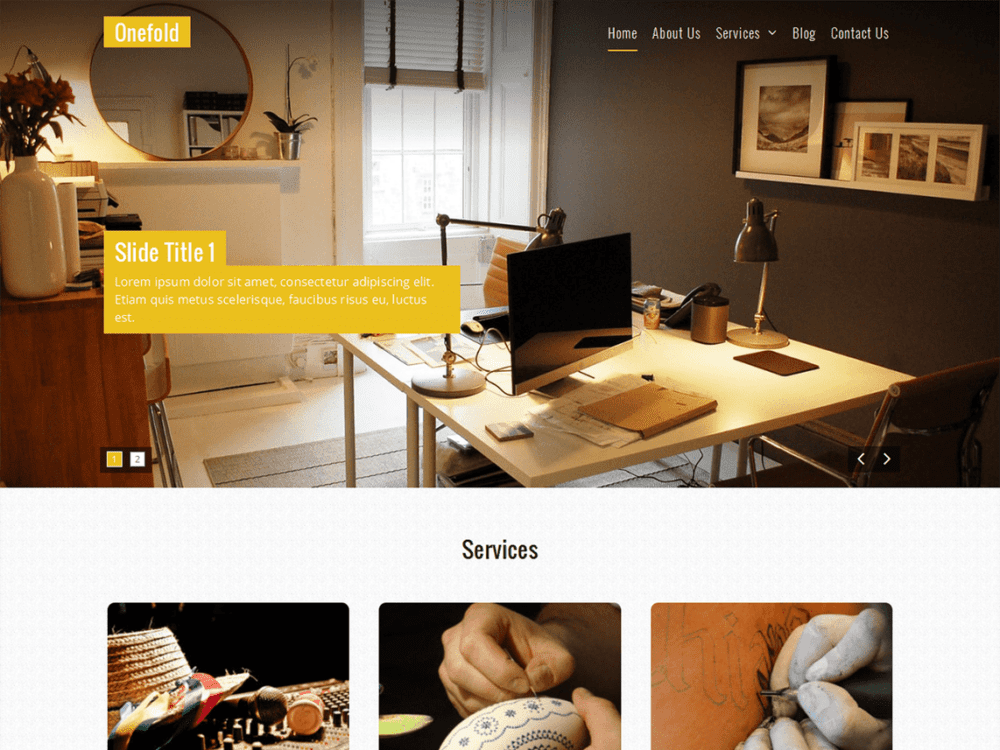Free Onefold Wordpress theme