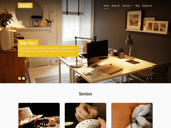 Free Onefold Wordpress theme