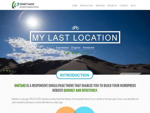 Free Onetake Wordpress theme