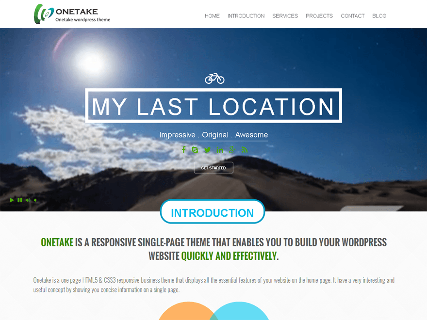 Free Onetake Wordpress theme