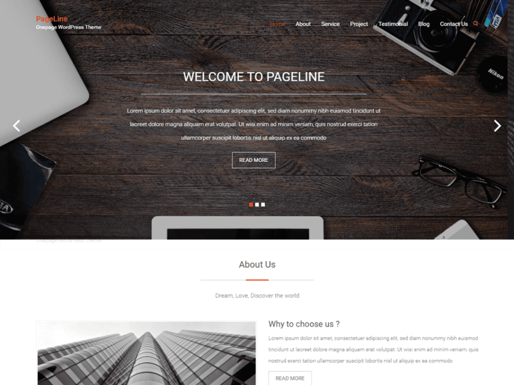 Free PageLine Wordpress theme
