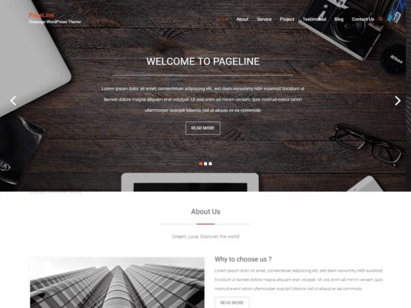 Free PageLine Wordpress theme