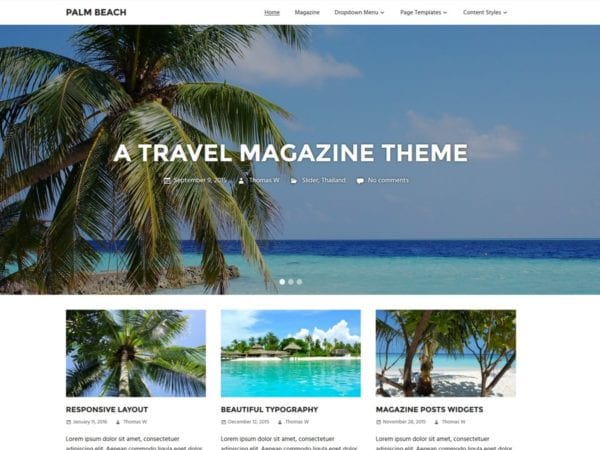 Free Palm Beach Wordpress theme