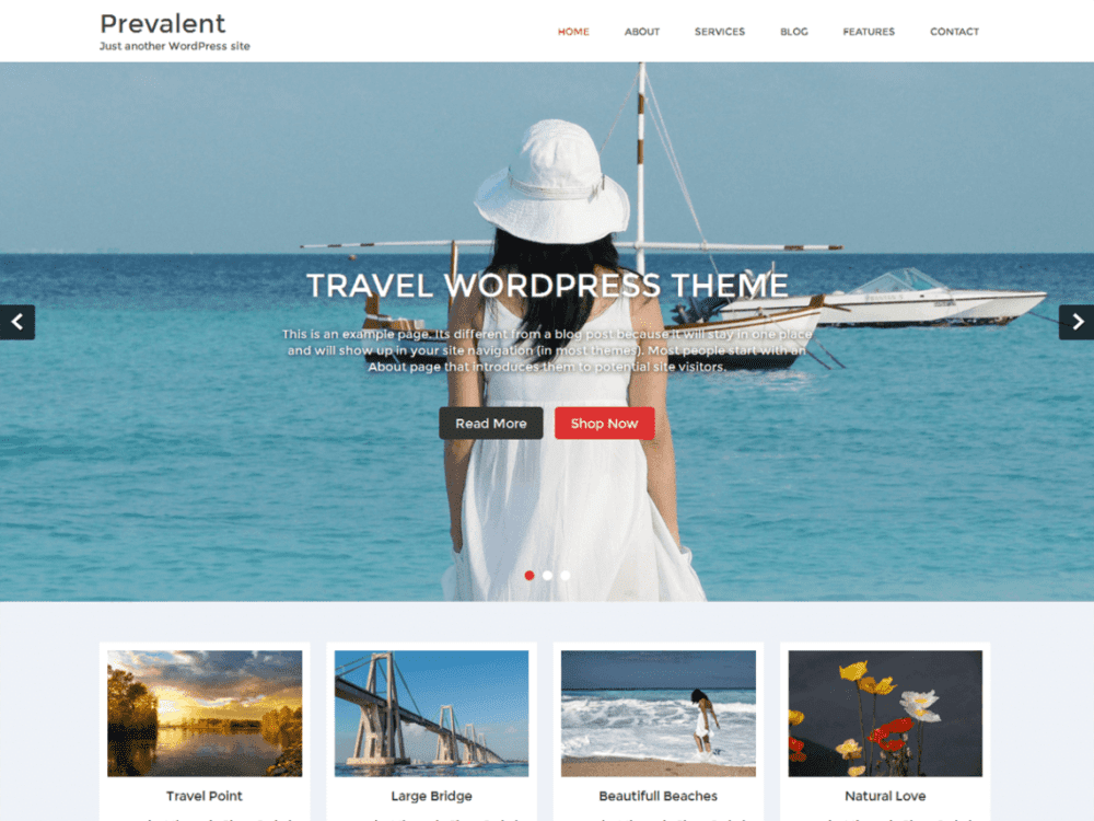 Free Prevalent Wordpress theme