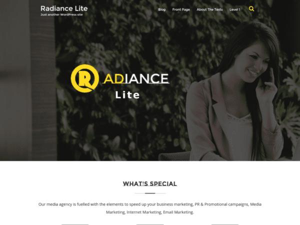 Free Randiance Lite Wordpress theme