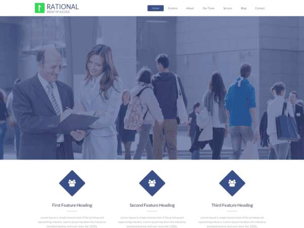 Free Rational Lite Wordpress theme