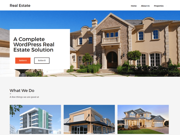 Free Real Estate Lite Wordpress theme