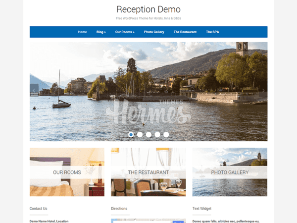 Free Reception Wordpress theme