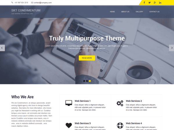 Free SKT Condimentum Wordpress theme