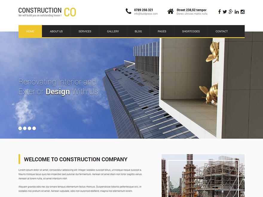 Free SKT Construction Lite Wordpress theme