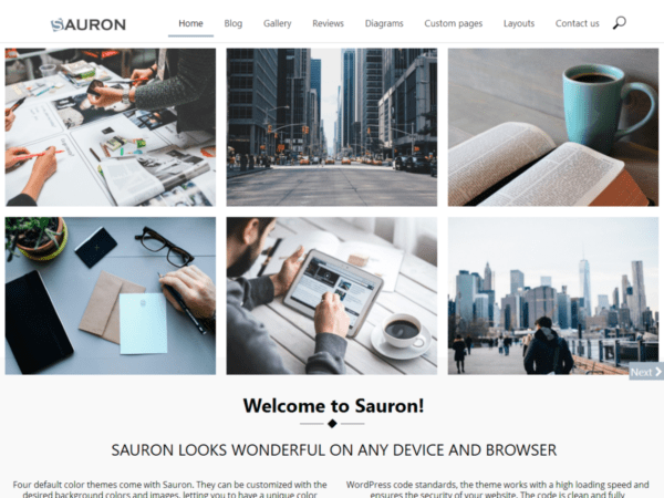 Free Sauron Wordpress theme