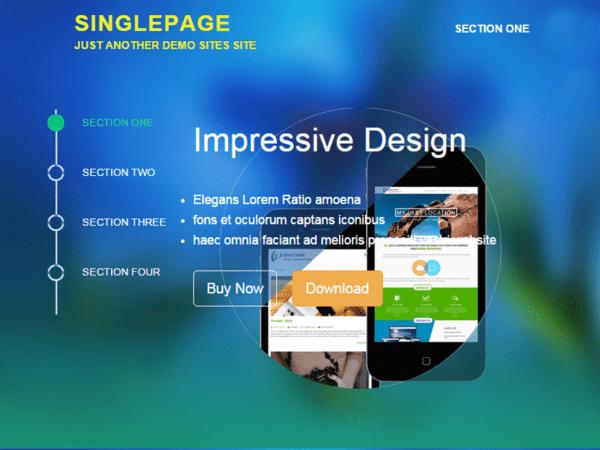 Free SinglePage Wordpress theme