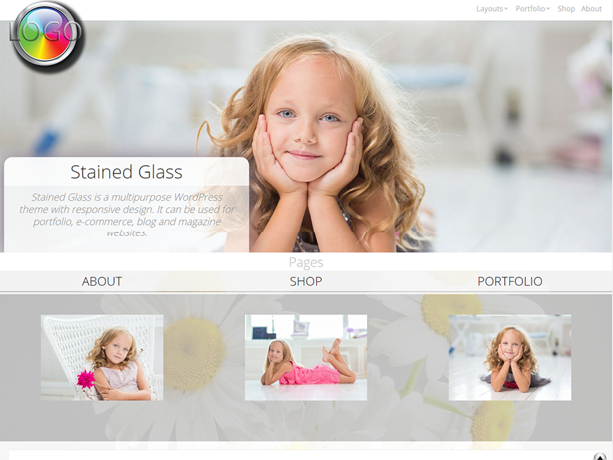 Free Stained Glass Wordpress theme